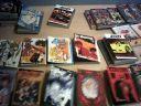 Manga-bordet til fri afbenyttelse i biblioteksrummet.