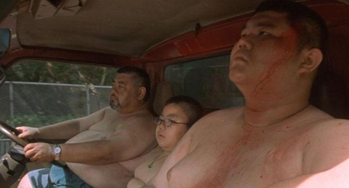 Tre gange Chu: far, lillebror og storebror.